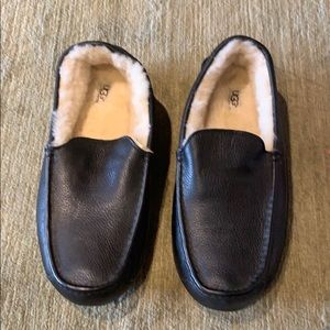 Never worn lamb fur Ugg slippers